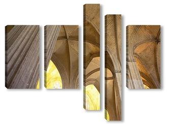 Модульная картина Интерьеры кафедрального собора