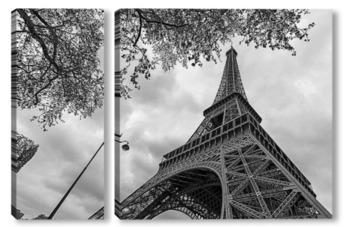 Модульная картина Ажурные линии Парижа
