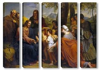 Модульная картина Христос, благословляющий детей