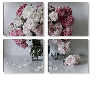 Осыпаются нежные розы