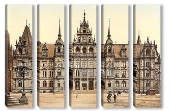 Модульная картина Висбаден, Гессен-Нассау, Германия.1890-1900 гг