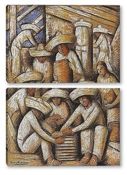 Модульная картина Керамика завод