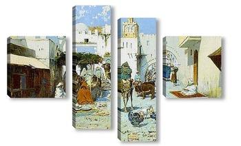 Модульная картина Базар Танжер.Марокко