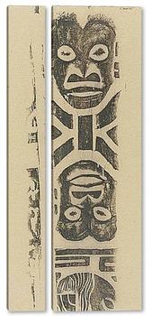 Модульная картина Фриз маски (племя Ноа Ноа) 1895