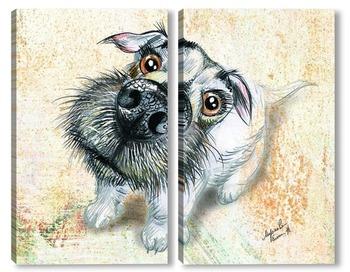 Модульная картина Любовь собаки