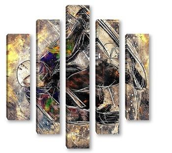 Модульная картина Сноубордист