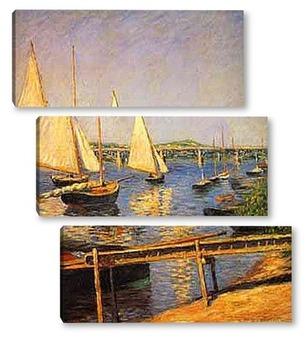 Модульная картина Парусные лодки. 1888