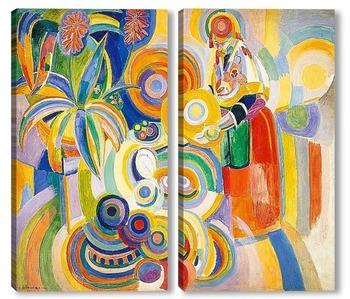 Модульная картина Португальская Женщина