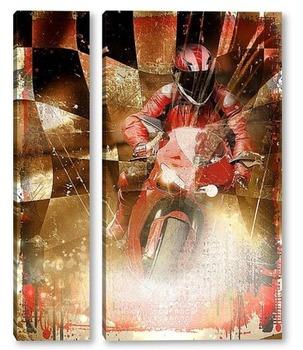 Модульная картина Спорт.Мотогонки