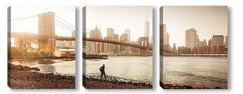 Модульная картина осенний New York