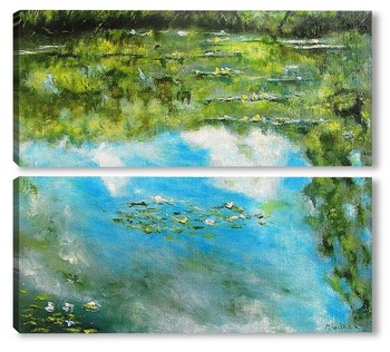 Модульная картина Кувшинки (Облака )