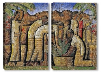 Модульная картина Рабочие