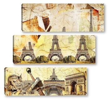 Модульная картина Архитектура Франции
