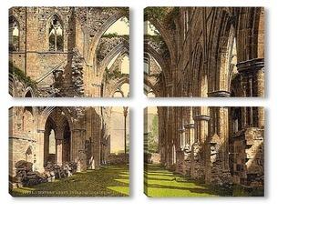 Модульная картина Тинтернское аббатство, Англия. 1890-1900 гг