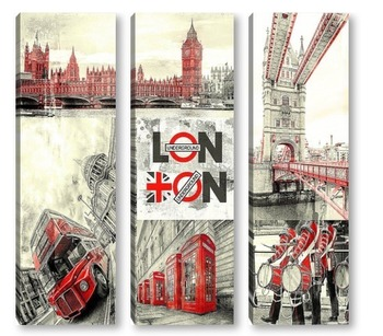 Модульная картина London city