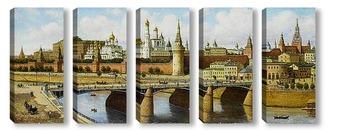Модульная картина Вид на Кремль с Москворецкого моста