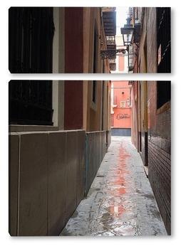 Модульная картина Узкие улочки Севильи