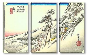 Модульная картина 46-я станция: Камеяма. Ясная погода после снегопада