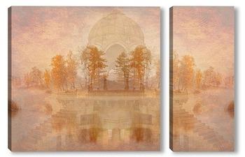 Модульная картина Винтажный пейзаж
