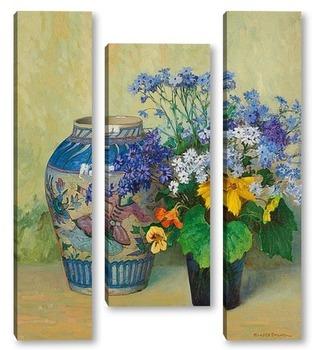 Модульная картина Персидская ваза