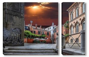 Модульная картина Итальянский дворик