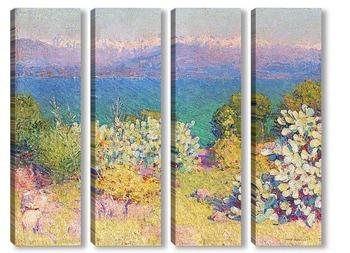 Модульная картина Утром приморские Альпы города Антиб