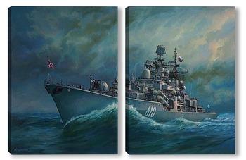 Модульная картина Большой противолодочный корабль