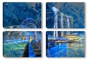 Модульная картина Городская Абстракция