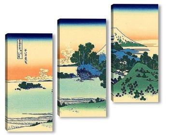 Модульная картина Пляж Шичири в провинции Сагами