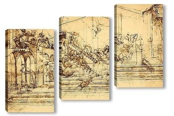 Модульная картина Leonardo da Vinci-05
