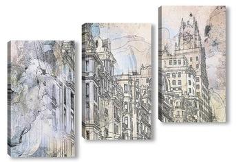 Модульная картина Архитектурные зарисовки