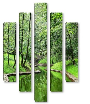 Модульная картина ручей