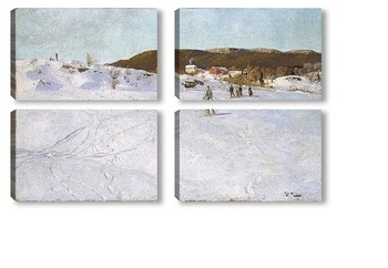 Модульная картина Зима в Вестре Акер