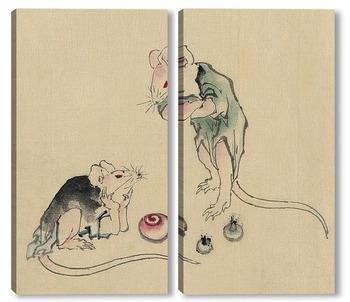 Модульная картина Две мышки