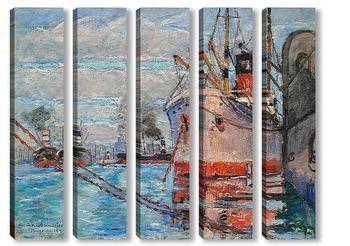 Модульная картина Порт Марсель, 1921