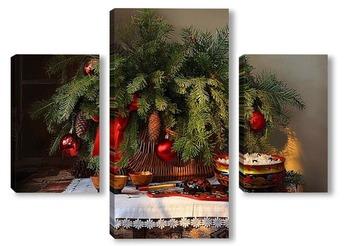 Модульная картина В праздник Рождества