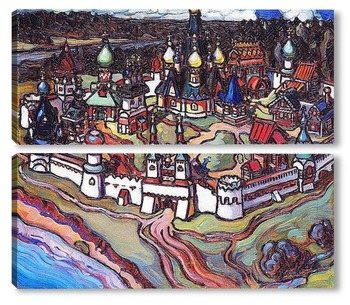Модульная картина Городок