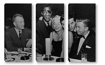 Модульная картина Мерелин Монро с известными музыкантами.