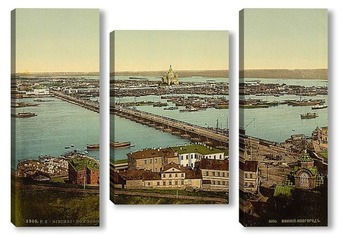 Модульная картина Мост, Нижний Новгород