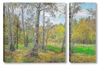 Модульная картина Осень в лесу