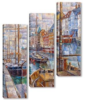Модульная картина Корабли Копенгагена