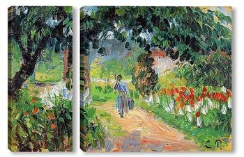 Модульная картина Аллея в саду Эраньи