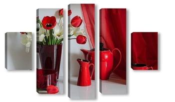 Модульная картина Торжество красного