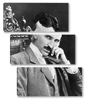 Модульная картина Никола Тесла