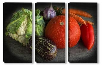 Модульная картина Натюрморт с овощами