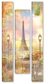 Модульная картина Романтический Париж