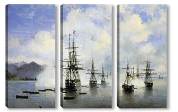 Модульная картина Десант Н.Н.Раевского у Субаши 1839