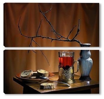 Модульная картина Чай с сухариками