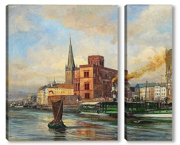 Модульная картина Дюссельдорф, пароход Бисмарк