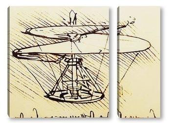 Модульная картина Leonardo da Vinci-08